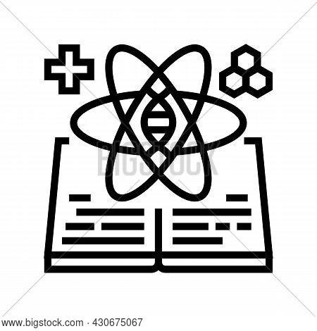 Science And Medicine History Line Icon Vector. Science And Medicine History Sign. Isolated Contour S