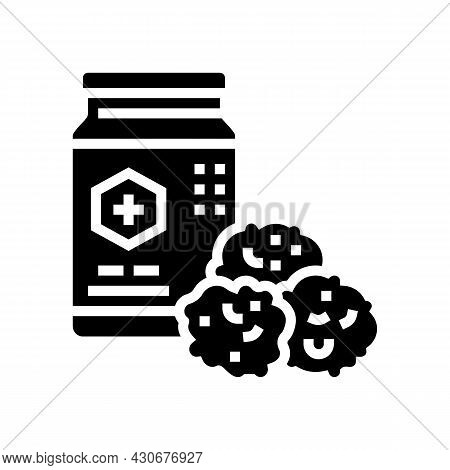 Propolis Container Beekeeping Glyph Icon Vector. Propolis Container Beekeeping Sign. Isolated Contou