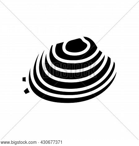 Manila Clam Glyph Icon Vector. Manila Clam Sign. Isolated Contour Symbol Black Illustration