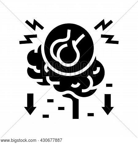 Hypopituitarism Endocrinology Glyph Icon Vector. Hypopituitarism Endocrinology Sign. Isolated Contou