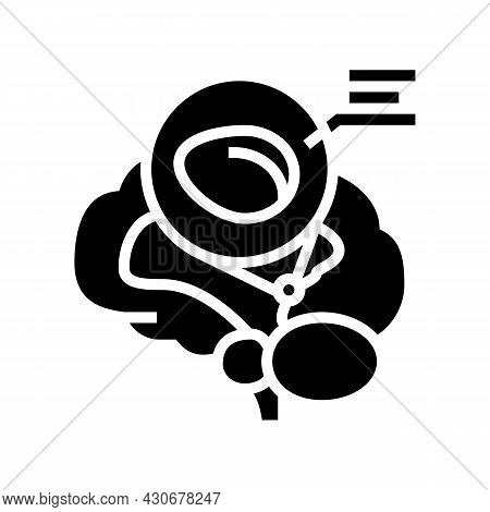Pineal Gland Endocrinology Glyph Icon Vector. Pineal Gland Endocrinology Sign. Isolated Contour Symb