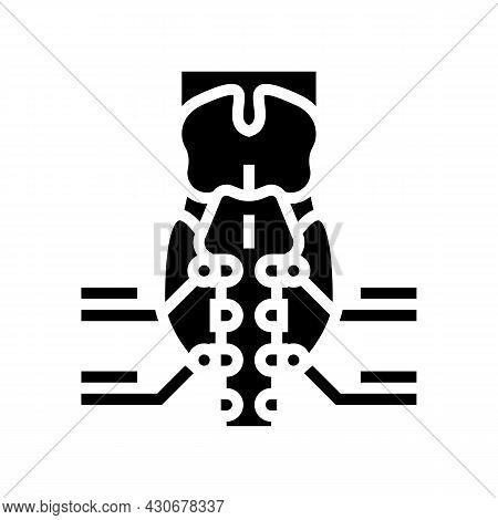 Parathyroid Gland Endocrinology Glyph Icon Vector. Parathyroid Gland Endocrinology Sign. Isolated Co