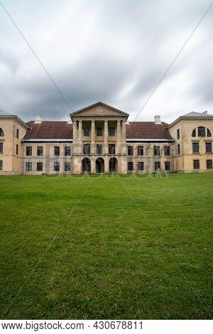 Kolga, Estonia: 9 August, 2021: View Of The Kolga Manor House In Northern Estonia