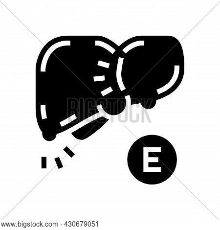 Type E Hepatitis Glyph Icon Vector. Type E Hepatitis Sign. Isolated Contour Symbol Black Illustratio