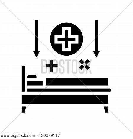 Bed Rest Hepatitis Glyph Icon Vector. Bed Rest Hepatitis Sign. Isolated Contour Symbol Black Illustr