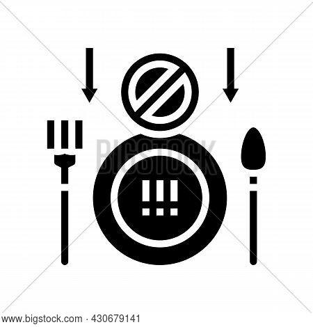 Loss Of Appetite Hepatitis Glyph Icon Vector. Loss Of Appetite Hepatitis Sign. Isolated Contour Symb