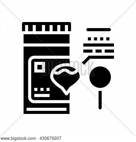 Dark Urine Hepatitis Glyph Icon Vector. Dark Urine Hepatitis Sign. Isolated Contour Symbol Black Ill