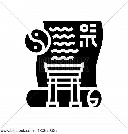 Ancient China History Glyph Icon Vector. Ancient China History Sign. Isolated Contour Symbol Black I