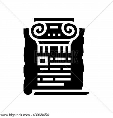 Ancient Rome History Glyph Icon Vector. Ancient Rome History Sign. Isolated Contour Symbol Black Ill
