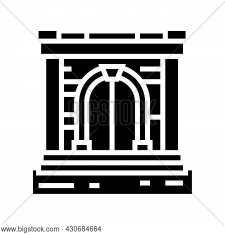 Ancient Gate Glyph Icon Vector. Ancient Gate Sign. Isolated Contour Symbol Black Illustration