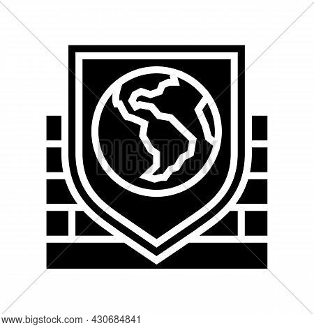 Safety, Security And Well Being Social Problem Glyph Icon Vector. Safety, Security And Well Being So