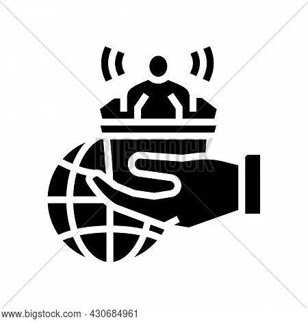 Democracy Social Problem Glyph Icon Vector. Democracy Social Problem Sign. Isolated Contour Symbol B