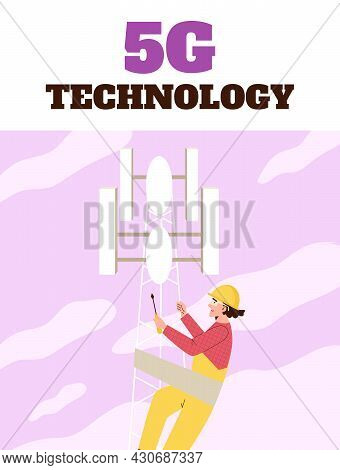 Poster For High Speed 5g Internet Or Cellular Communication Service Company.