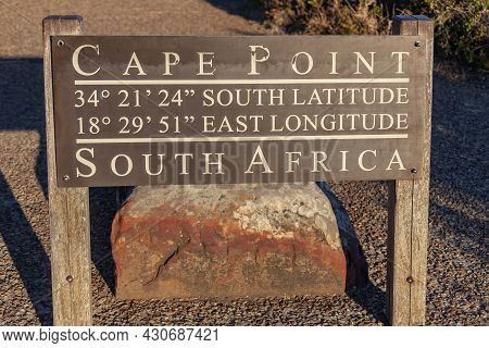 Cape Point 34 Degrees 21 Minutes 24 Seconds South Latitude 18 Degrees 29 Minutes 51 Seconds East Lon