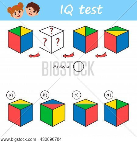 Educational Game For Kids For Development Logic Test Iq. Task Game What Comes Next Children Funny Ri
