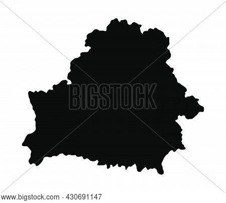 Belarus Silhouette Flag Map. Vector Illustration Of National Symbol. Graphic Design Of Patriotic Ele