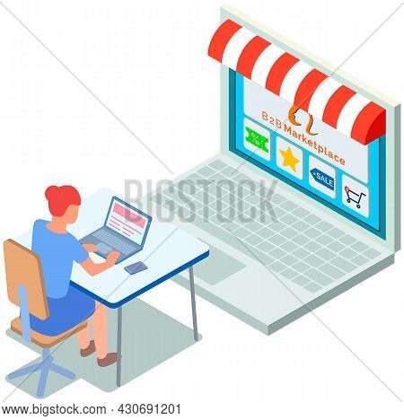 B2b Marketplace, Online Shop, Choosing Products At Website, Discount, Special Price, Sale, Shopping