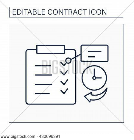 Express Term Line Icon. Clear Statement In Legal Agreement Of Particular Right Or Duty. Limited Time