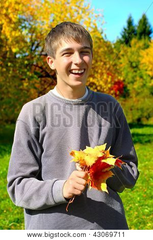 Teenager With Leafs