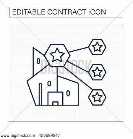 Franchising Line Icon.method Of Distributing Products Or Services Involving A Franchisor.contract Bi
