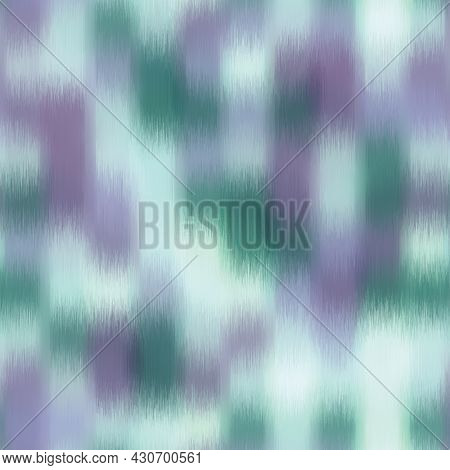 Seamless Blurred Fuzzy Tribal Ikat Pattern For Surface Design And Print