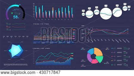 Modern Infographic Marketing Data Presentation. Graphic, Circle Infochart, Diagram, Online Statistic