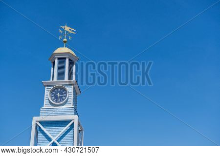The Dockyard Clock At The Halifax Waterfront, Nova Scotia, Canada