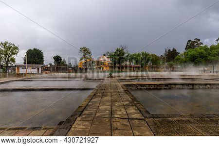 Steaming Thermal Water In The Pools Of The