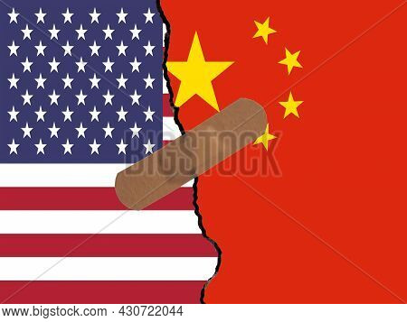 Restoring Relations Between Usa And China. A Plaster That Binds The Crack In Relations.