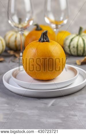 Thanksgiving Background. Thanksgiving Day Autumn Background. Copy Space