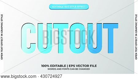 Cutout Text Style Effect