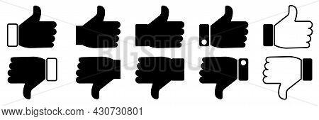 Black Like Dislike Set In Modern Style. Social Media Like Button. Vector Illustration. Stock Image.