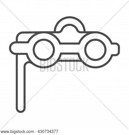 Theater Binoculars, Opera Glasses Thin Line Icon, Theater Concept, Concert Binocular Vector Sign On