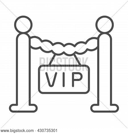 Fencing, Barrier, Only For Vip Guest Thin Line Icon, Celebrity Concept, Vip Zone Stanchion Vector Si