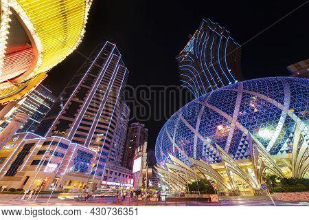 Macau, China - June 30, 2016: Grand Casino Lisboa On June 30, 2016 In Macau. Macau Is The World's To