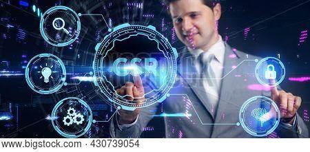 Csr Abbreviation, Modern Technology Concept. Business, Technology, Internet And Network Concept.