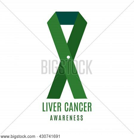 Liver Cancer Awareness Ribbon With A Pin