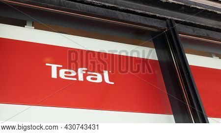 Bordeaux , Aquitaine  France - 08 20 2021 : Tefal Store Sign Text And Logo Brand Of French Company C