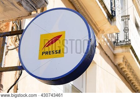 Bordeaux , Aquitaine  France - 08 20 2021 : Presse Shop Logo Sign And Brand Text For French Press St