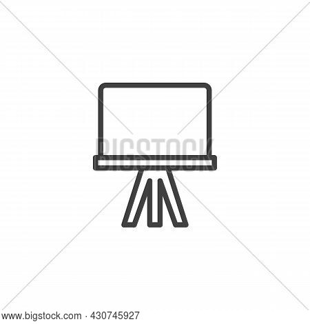 Blank Projector Screen Line Icon. Linear Style Sign For Mobile Concept And Web Design. Projection Sc