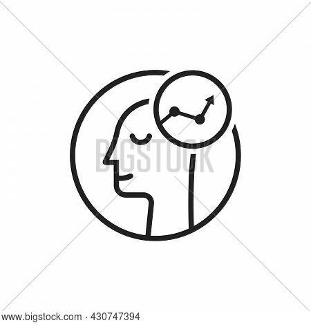 Success Logo Like Thin Line Human Head