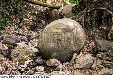 Stone sphere Ball in Bosnia already attracting Tourist from around the World. Bosnia and Herzegovina.