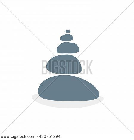 Balanced Stones Like Meditation Or Zen. Concept Of Equilibrium Or Harmony And Relaxation Or Placidit