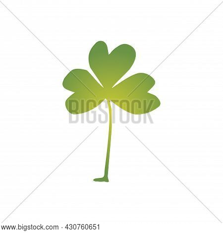 A Leaf Of Clover Is Made In The Style Of A Doodle For The Feast Of St. Patrick. Autumn Leaf