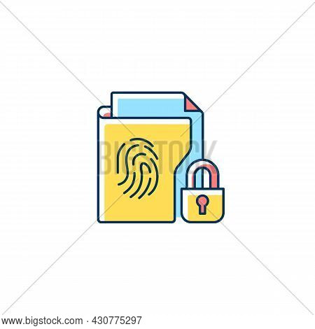 Sensitive Information Protection Rgb Color Icon. Prevent Unauthorized Access. Cybersecurity Measure.