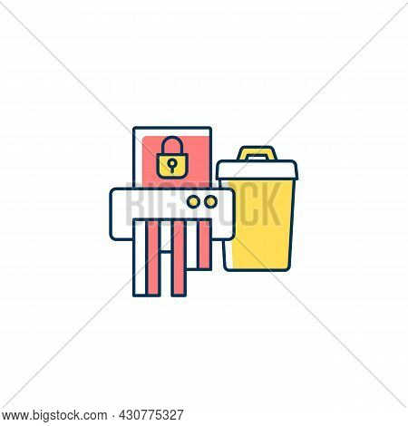 Sensitive Information Disposal Rgb Color Icon. Confidential Waste. Accidental Disclosure Prevention.