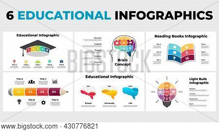 Educational Infographics. Presentation Slide Template. Human Puzzle Head And Brain. Brainstorming, C