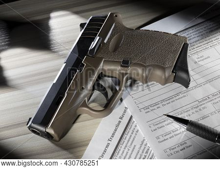 Tan Polymer Handgun On The Public Domain Nics Background Check Forms Required By The Fbi To Purchase