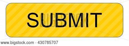 Submit Button Yellow On White Backround - Illustration
