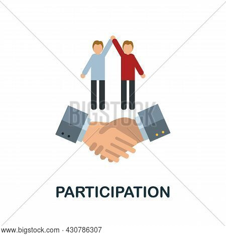 Participation Flat Icon. Simple Sign From Gamification Collection. Creative Participation Icon Illus